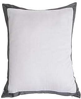 Kensie Kittery Euro Sham, Steel Grey-White (Cp=12), 26x26