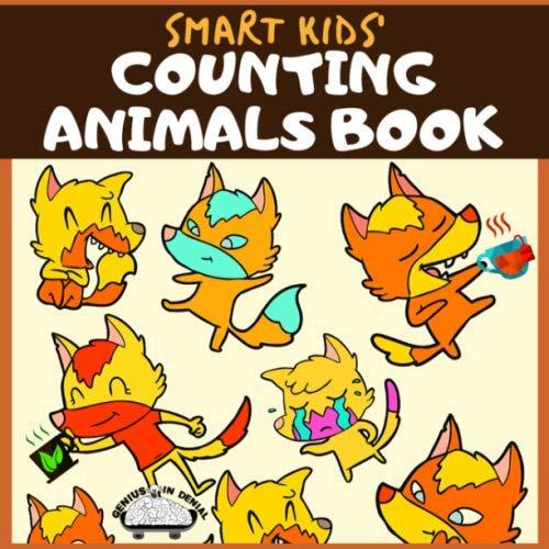 Smart Kids' Counting Animals Book: Fun, Activity Workbook for Kindergarten Children, Preschoolers