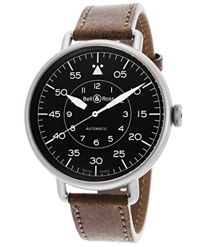 Bell & Ross Men's WW1-92 Military Automatic Brown Calfskin Black Dial