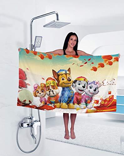 Toalla De Baño Manta De Tres Piezas De Impresión Digital Real Toalla De Baño De Animación De Dibujos Animados De Tela De Toalla-Ktdm008_El 140X70Cm,