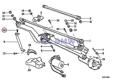 BMW Genuine Motorcycle Ignition Sensor & Wiper Fillister-Head Screw M4X10 R100/7T R100/T R100RS R100RT R100S R60/6 R75/6 R90/6 R90S R60/7 R75/7 R80 K1 K100RS K1100LT K1100RS K1200LT K1200RS K1200GT K1