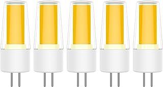5X G4 Bombillas LED 4W Lámpara Bombillas COB Blanco Cálido 3000K LED de Bombillas 400LM Equivalente a Lámparas Halógenas 20W AC/DC12V