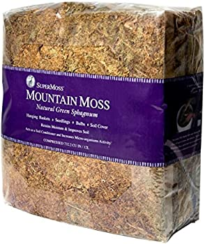 SuperMoss Mountain Moss Dried, Natural, 5lb Small Bale