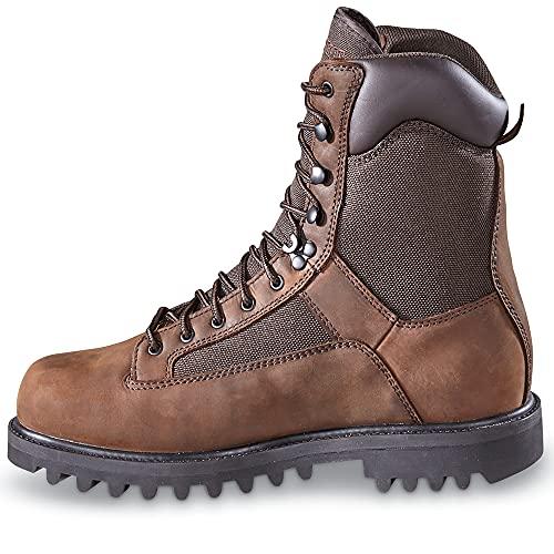 Huntrite Men's Insulated Waterproof Hunting Boots, 1,200-gram, Brown, 9.5D (Medium)