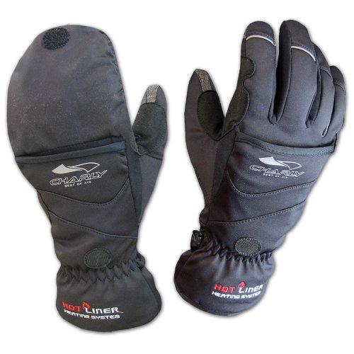 Charly Touch Combi, 2-in-1 Fingerhandschuhe/Fäustlinge, Mit Wärmepads beheizbare Handschuhe, Windstopper