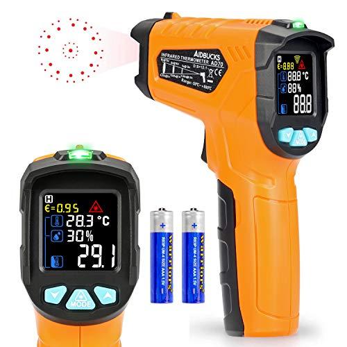 Termometro a infrarossi AD70 Termometro Digitale Laser Pistola Termometro Professionale -50°C a 800°C per cucina dolci forno ambiente interno industria e scienza LCD display
