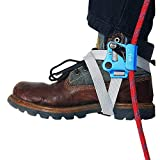 NewDoar Right Foot Ascender Riser Rock Climbing Tree Arborist Mountaineering Rappelling Quick Step Equipment CE Certified Climbing Device for 8~13MM Rope(Right Blue)