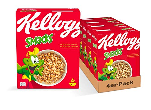 Kellogg's Smacks Cerealien | 4er Vorratspack | 4 x 330g
