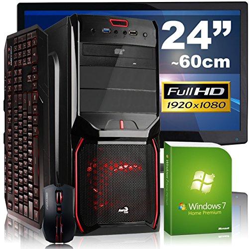 High-End Gaming PC-Komplettpaket AGANDO fuego 4775i7 gtx   Intel Core i7 4790 4x 3.6GHz   8GB RAM   GeForce GTX750 Ti 2GB   1000GB HDD   DVD-RW   Gigabit-LAN   7.1 Sound   Win7HP   60cm (24