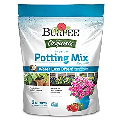 Burpee Natural Organic Premium Growing Mix, 8 Quart