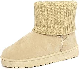 [GWEI] スノーブーツ レディース 厚底 ムートンブーツ ショート ブーツ スノーシューズ 綿靴 雪靴 サイドゴア ウィンターブーツ 防滑 保暖 裏起毛 冬用 カジュアル アウトドア
