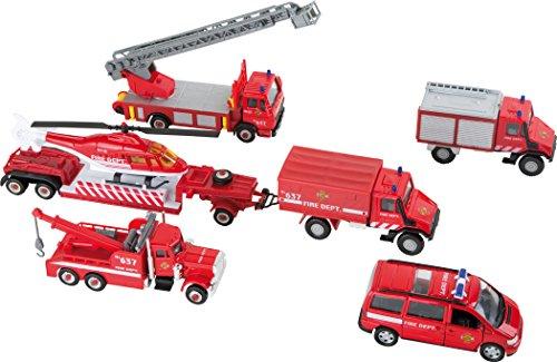 Small Foot 8589 Modellautos Feuerwehr, 8-er Set