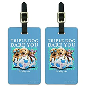 Cute dog luggage tags