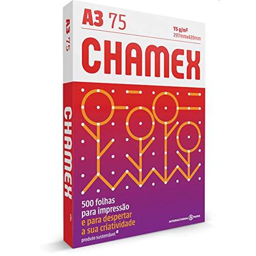 Papel Chamex 03071740185, A3 - 297 x 420 mm, Branca, 500 Folhas