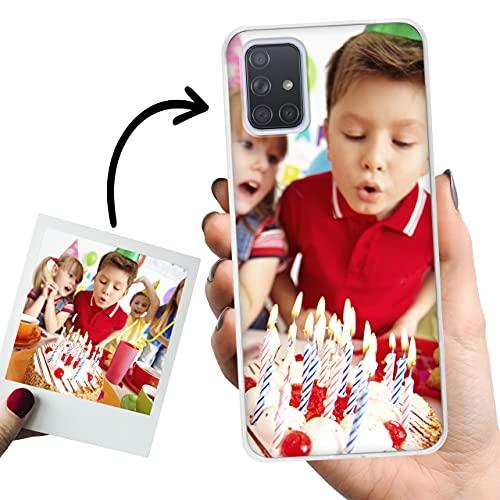 Phone Case Trends – Funda Samsung A71 Personalizada con Foto o Texto – Carcasa Personalizable de Gel Flexible para Móvil - Funda Transparente, Antigolpes y de Silicona - Impresión Directa en Funda