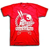 Mens Spongebob Squarepants Classic Shirt - Spongebob Krusty Krab T-Shirt (Red, Medium)