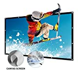 Beamer Leinwand Groß 150 Inch 16:9 Portable Leinwand für Beamer Unterstützung Projektion waschbar Projector Screen für HD Full HD Heimkino 3D oder 4K Outdoor Leinwand 332x187cm