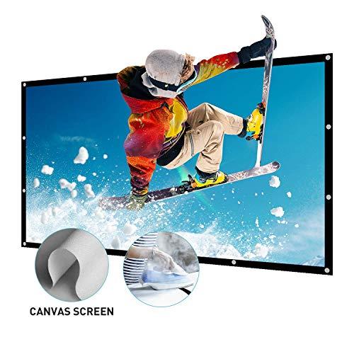 Beamer Leinwand Groß 150 Inch 16:9 Portable Leinwand für Beamer Unterstützung Projektion waschbar Projector Screen für HD Full HD Heimkino 3D oder 4K Outdoor Leinwand 337x194cm