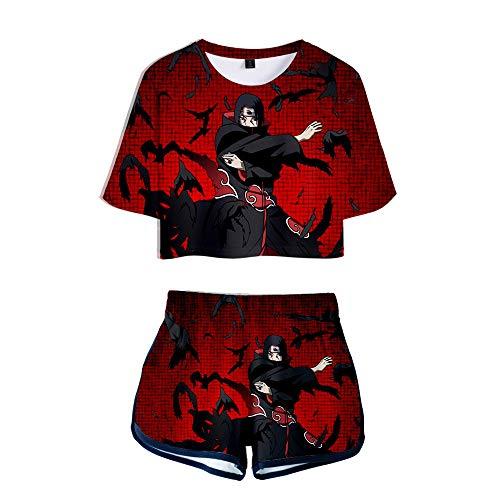 WOONN Shorts und Kurze Ärmel, Naruto Anime Shorts passen zu Sport, Freizeit, Pyjama