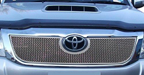 Zunsport Compatible avec Toyota HiLux - Calandre supérieure - Finition Argent (2012 à 2015)