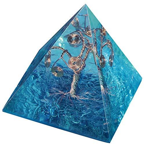 Amogeeli - Árbol de la vida de cristal pirámide EMF,
