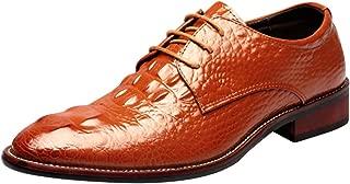 Men's Crocodile Gator Print Dress Shoes