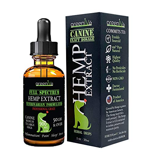 Greenive - Hemp Extract for Dogs - Assist with Anxiety, Pain, and Stress - Hemp Oil Extract - Exclusively on Amazon (900mg)