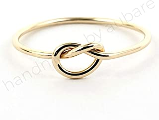 Solid 14k Gold Stacking Knot Ring