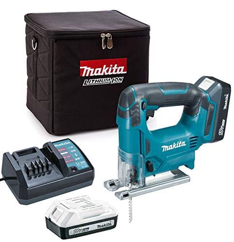 Makita JV183DW 18v Cordless G-Series Jigsaw + 2 x 1.3ah Batteries, Charger + Bag