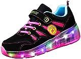 Zapatillas de Ruedas con Luces con Ruedas Zapatillas de Deporte LED Zapatillas de Patìn Roller Sneakers Deportivos con luz para Patines de Ruedas iluminan los Entrenadores para niños y niña