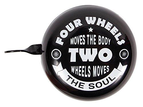 Alsino Fahrradklingel - Extra Laute Fahrradschelle für hohe Sicherheit - (62/3960) 'Four Wheels' - Durchmesser: 6,5 cm, Höhe: 4 cm