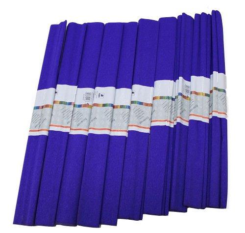 Staufen 617148 - Krepppapier 10 Rollen 50 x 250 cm saphir - blau