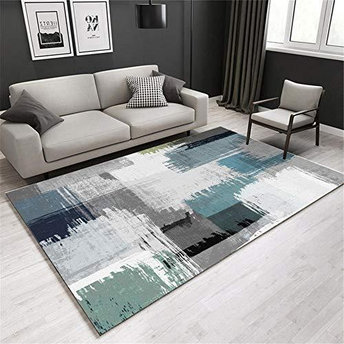 Alfombras Antideslizante alfombras Alfombra Antideslizante del sofá de la Sala de Estar del diseño de la Tinta Gris Verde Azul alfombras Exterior terraza Antideslizante Suelo 160*200cm