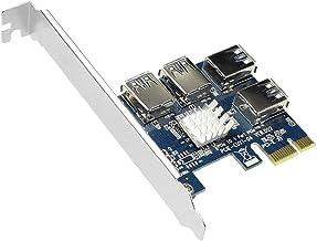 PCIe 1 tot 4 PCI Express Riser Card Slots Riser Card USB Adapter Multiplier Card voor Bitcoin Miner Riser kaart Blauw