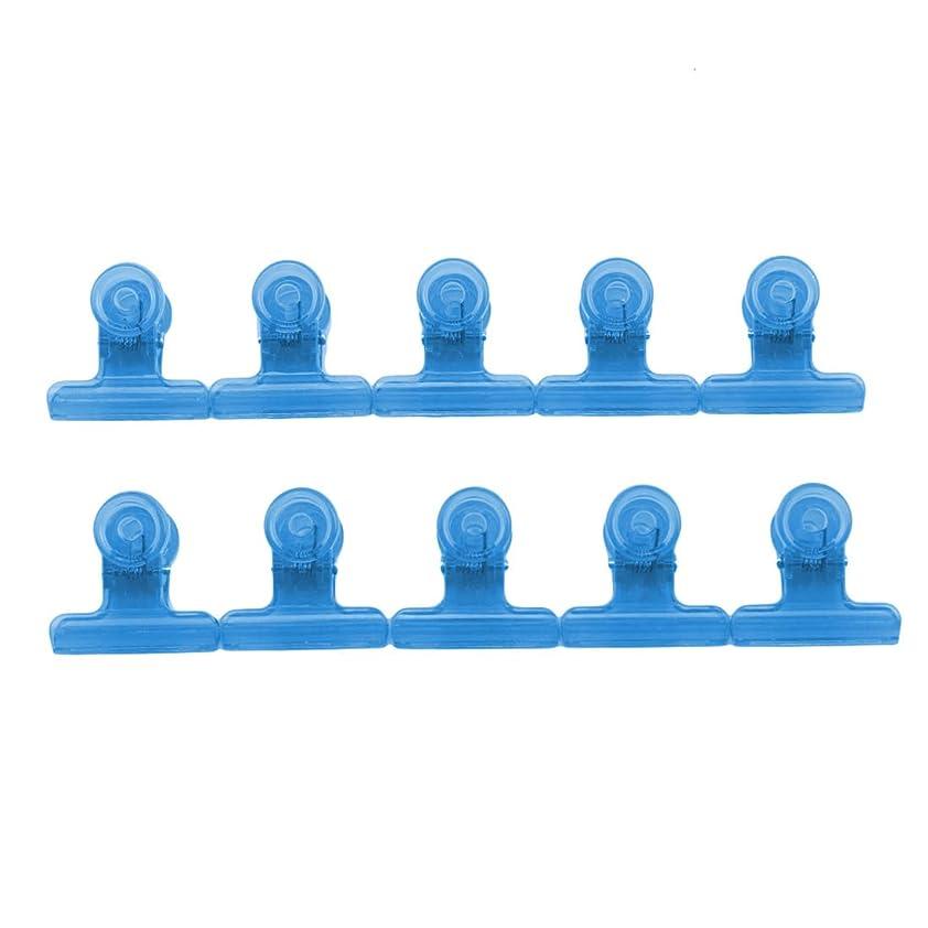 設置墓地深いKLUMA ネイルアートクリップ ネイルクリップ ネイルプロテクター ネイルアートツール 滑り止め 再利用可能 10個セット ブルー