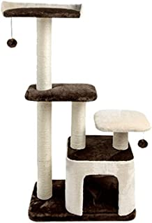 Cat Tree Cat Climbing Frame Solid Wood Cat Tree Cat Litter Cat Claws Sharpening Cat Supplies Toys High 115cm 15kg Cat Climbing Frame