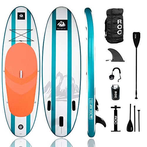 Roc Inflatable Stand Up Paddle Boards W Free Premium SUP Accessories