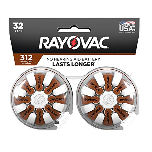 Rayovac Rayovac Hearing aid Batteries Size 312 for Advanced Hearing aid Devices 32 Count
