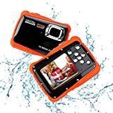 Tarnel Kids Waterproof Camera, Underwater Action Camera Camcorder HD720p 12MP Digital Sport Camera