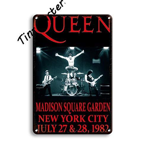 Rock Music Metal Poster Cartel de Chapa Vintage Kiss Queen Rock Band M