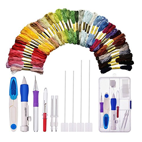 Trkee Magic DIY Hand Embroidery Pen Patch Knitting Sewing Tool Kit Punch Needle