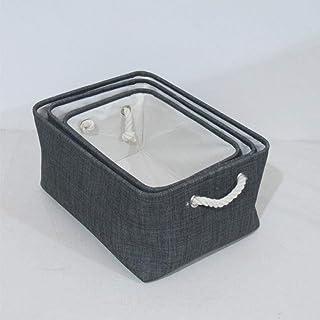 AQGELSNX Panier de Rangement créatif, Coton Bambou, Panier de Rangement en Trois pièces, Jouets d'articles Divers, boîte d...