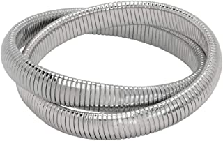 Janis Double Cobra Bracelet - High Polished Rhodium
