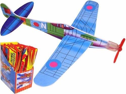 Hillfield 50800, 6 Stück Styroporflieger mit Propeller zum Zusammenstecken! Ultimativer Kultspaß! Verschiedene Modelle.