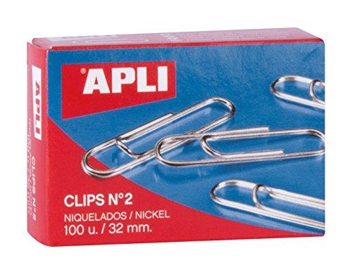 APLI 11711 - Clips niquelados nº2 32 mm 100 u. 🔥