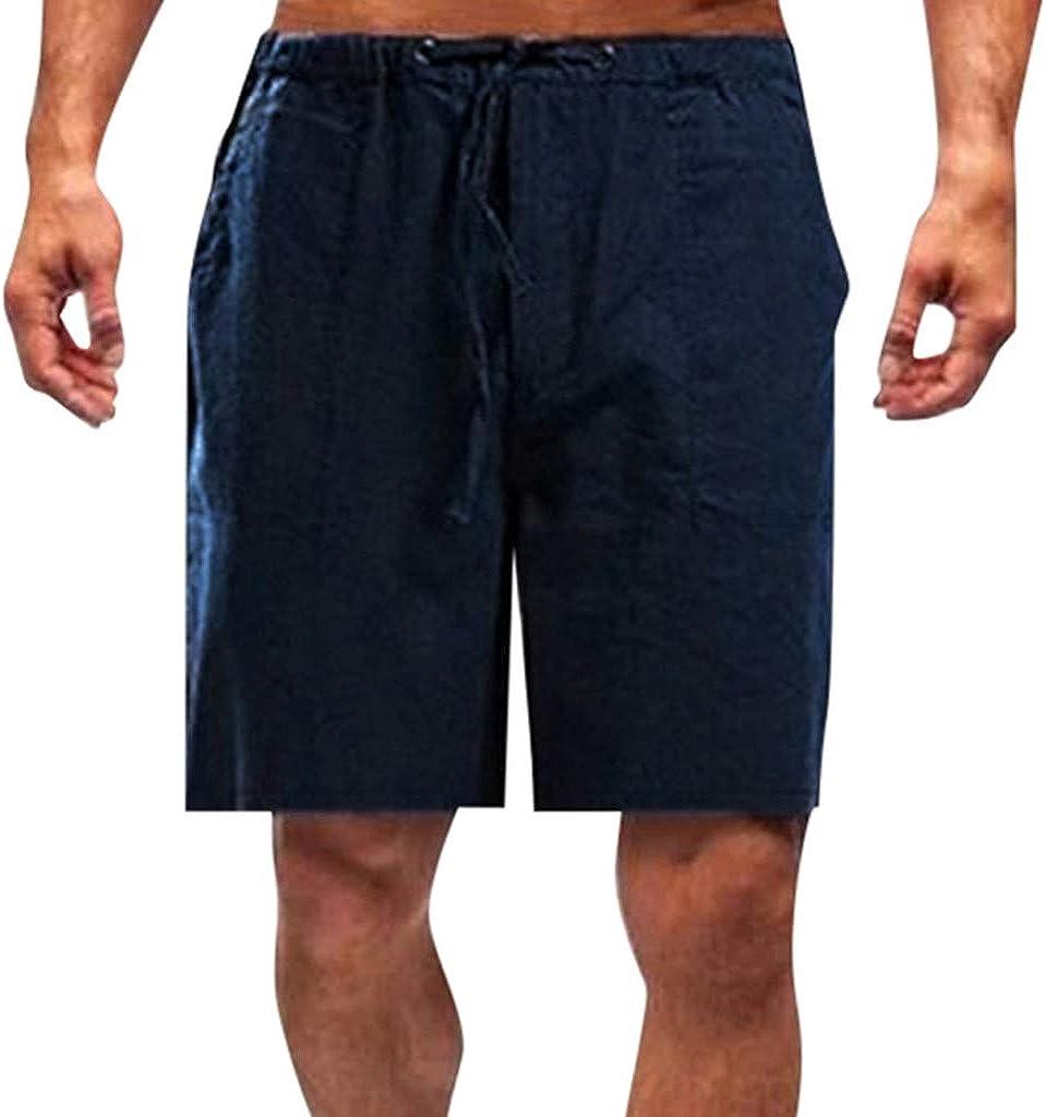 Holzkary Men's Swim Trunks Workout Shorts Athletic Shorts Drawstring Beach Shorts with Pockets