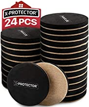 Felt Furniture Sliders Hardwood Floors X-PROTECTOR 24 PCS - Furniture Slider – Heavy Duty Felt Sliders Hard Surfaces - Move Your Furniture Easy & Safely!