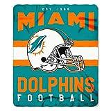 Miami Dolphins Offizielle NFL Decke, Fleecedecke in 127 x