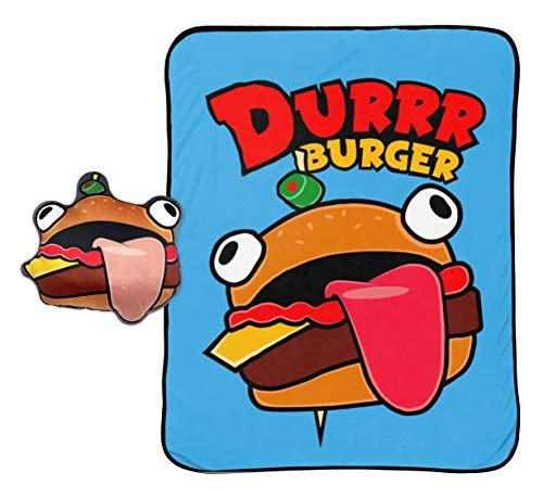 Jay Franco Durrr Burger 2 Piece Nogginz Set, Fortnite - Blue