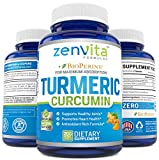 Turmeric Curcumin 200 Capsules w/Bioperine & 95% Curcuminoids, 1300 mg, Non-GMO & Gluten Free, 100% Natural Premium Extract, Powerful Joint Support, Inflammation & Pain Relief Supplement